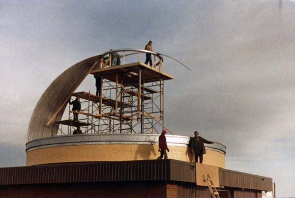 Rothney Observatory under construction