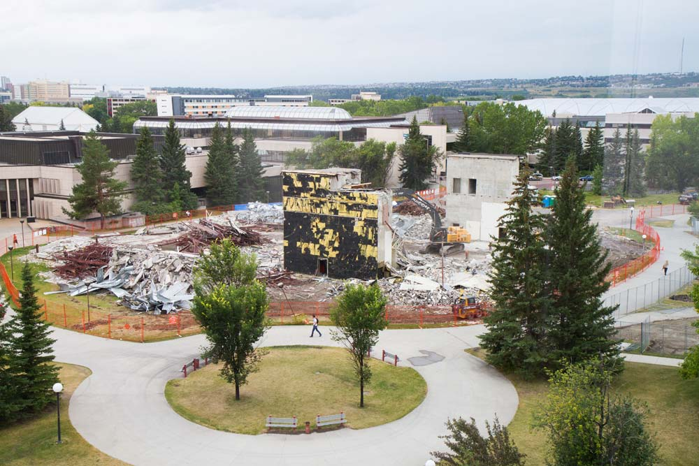 Clearing the site -- demolition of the Nickle Arts Museum to make way for the TIFL