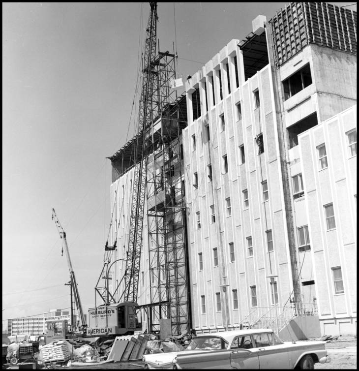 Craigie Hall (Calgary Hall) under construction