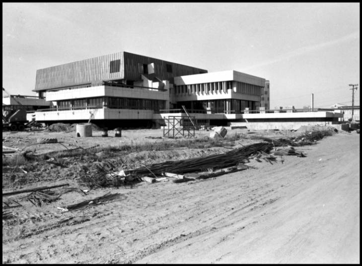 MacEwan Hall under construction