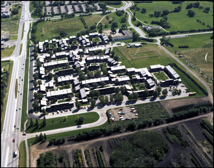 Varsity Courts Family Housing aerial view