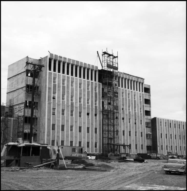 Craigie Hall (Calgary Hall) under construction