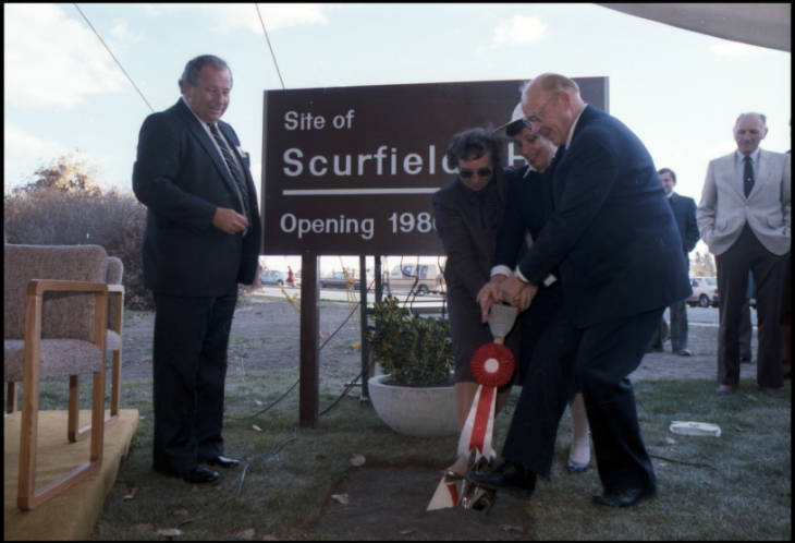 Sucrfield Hall sod turning
