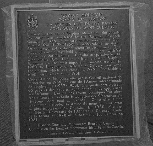 Sulphur Mountain Historic Sites plaque