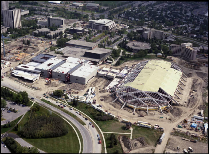 Olympic Oval under construction