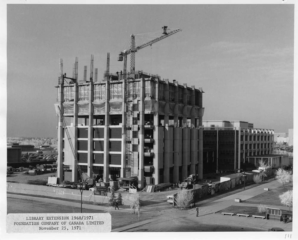 Library Tower under construction