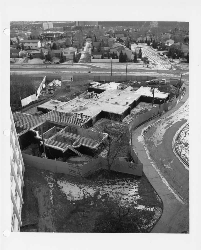 Norquay, Castle and Brewster Halls under construction