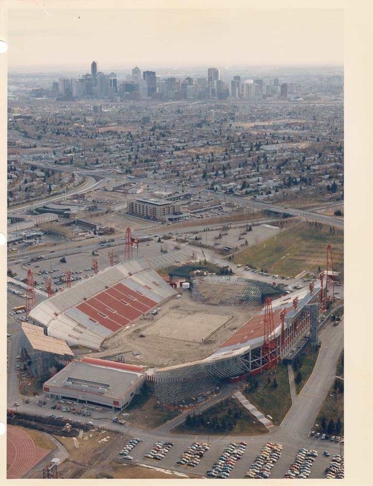 McMahon Stadium under construction
