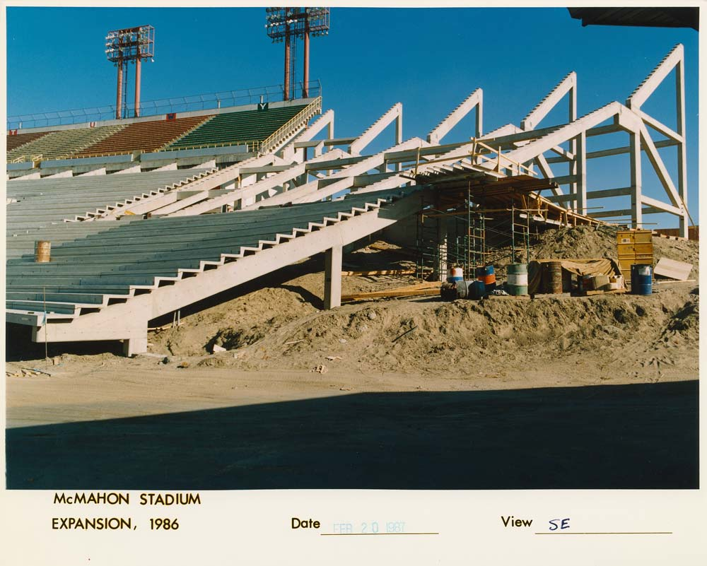 McMahon Stadium expansion under construction