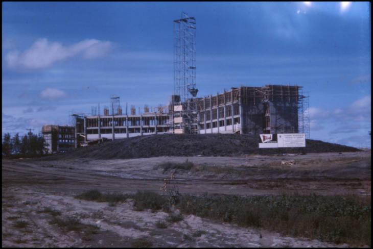Kananaskis Hall under construction