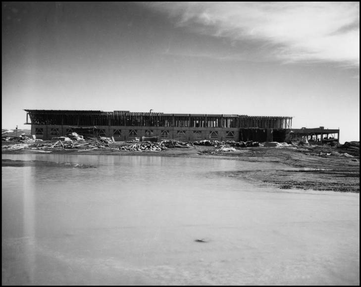 Arts and Education (later Administration) building under construction