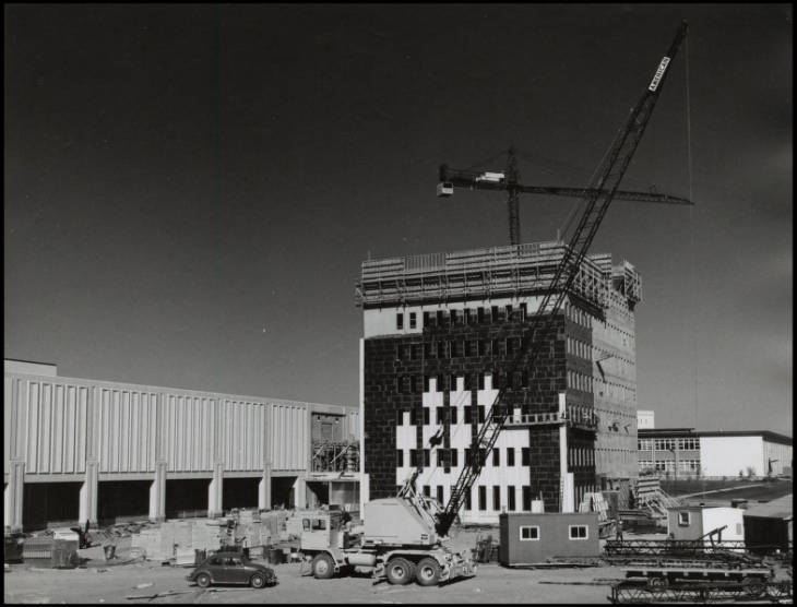 Education Tower under construction