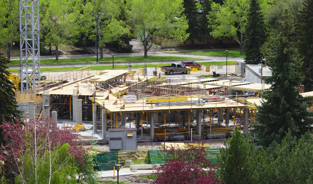 Construction of Aurora Hall
