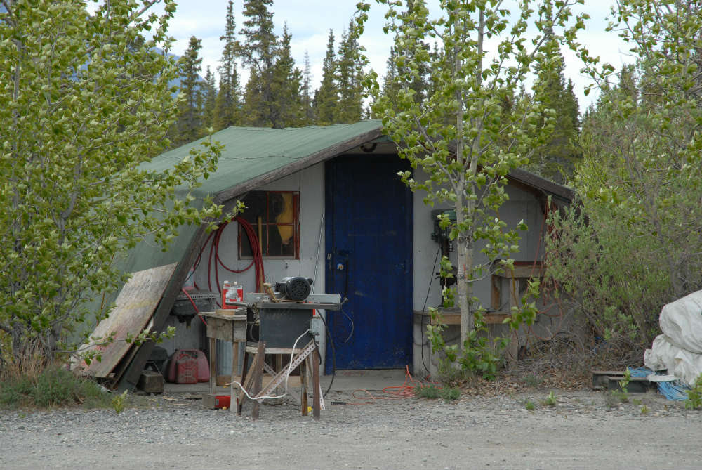 Kluane research station outbuilding