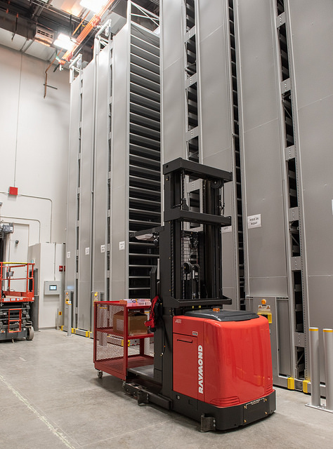 High Density Library addition (HDL2) -- high bay stacks
