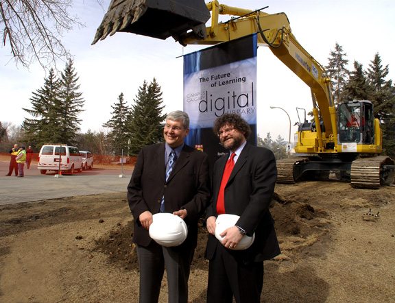 TFDL sod turning -- President Weingarten and MLA Dave Hancock