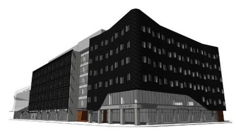 Downtown campus - exterior drawing