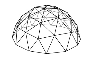 Geodesic dome outline